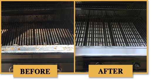 Before and after of BBQ Cleaning by BBQ Repair Doctor.