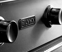 Lynx logo on the BBQ grill.