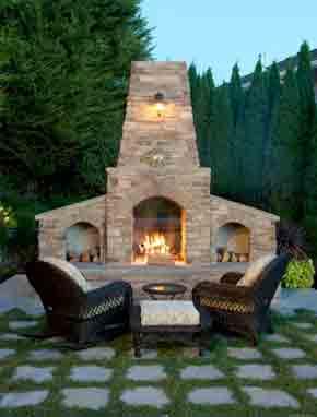 The best backyard fireplace installation
