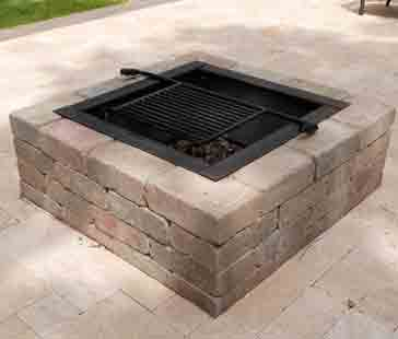 Fire pit installation is the best.